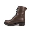 Brown insulated training military leather boots 6246