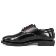 Flat leather oxford military office shoes 1215