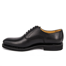 Black durable flat fashion office shoes 1201