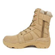 Slip resistant special men military with zipper desert boots 7279