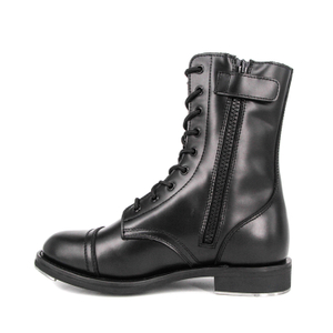 Patent zipper Australia high gloss military full leather boots 6284