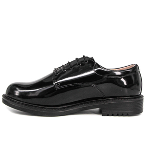 Uniform wholesale patent leather police office shoes 1281