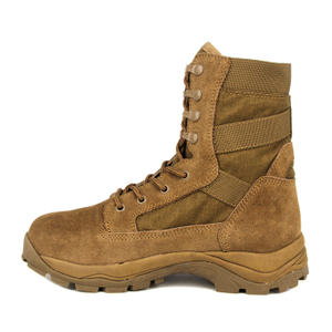 Hot weather brown color 8 inch tactical desert boots 7284