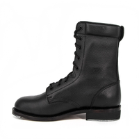 Malaysia American ladies military embossed full leather boot 6242