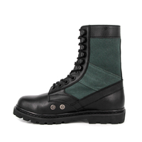 Lightweight green canvas British army military jungle boots 5225