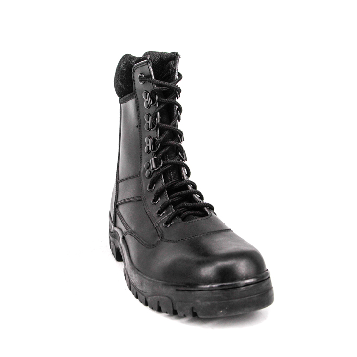 Japanese Korean police military full leather boots 6249
