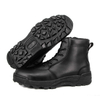 Anti slip quality army zipper tactical full leather boots 6103