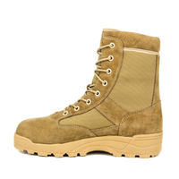 Cheap sand color breathable padded collar force desert boot 7275