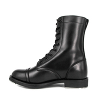 Wholesale anti-skid training combat full leather boots 6292