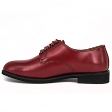 Cheap price mens red brown cow leather military office shoes 1242