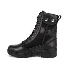 US slip resistant black leather tactical boots 4218