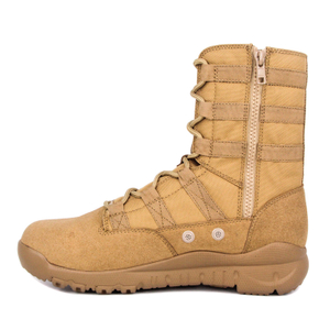 Turkey zipper khaki nylon military desert boots 7289