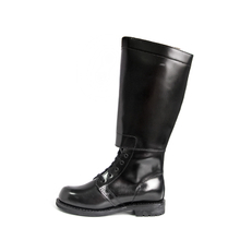 Youth knee-High black cowhide concierge boots 8202